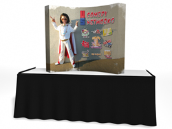 Trade Show Displays | VBurst Curved Frame Replacement Graphics