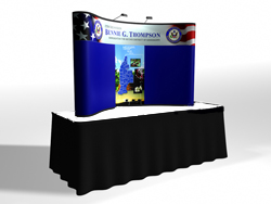 Quadro Pop Up Table Top Display | Trade Show Displays by ShopForExhibits