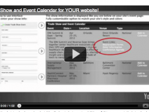 Trade Show Event Calendar for YOUR Website