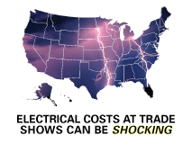 trade show booth electric cost comparison, exhibit dollar, CEIR