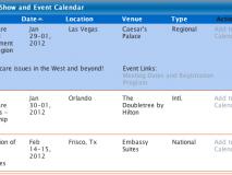 Trade Show & Event Calendar