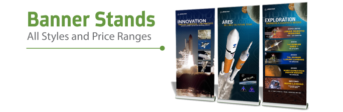 Banner Stands | Trade Show Displays by ShopForExhibits
