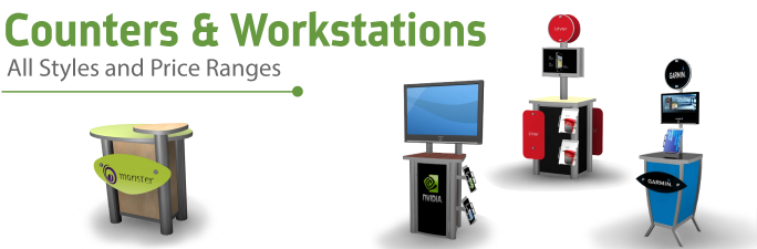 Counters, Workstations, Pedestals, Kiosks, and Monitor Stands, Displays |ShopFor