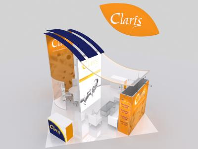Display Rentals | 20 x 20 Island Claris Booth