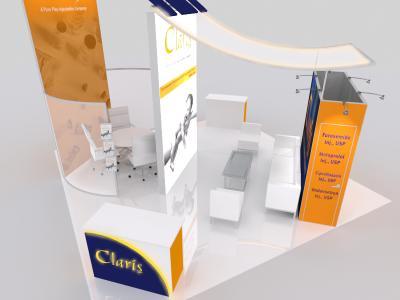 Display Rentals   20 x 20 Island Claris Booth