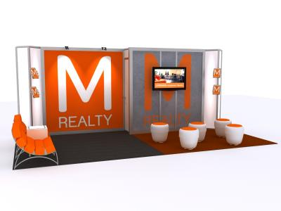 Custom Modular Hybrid Displays | Trade Show Island -- 10 x 20 Version