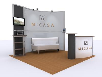 VK-5095 Visions Custom Modular Island Display | Trade Show Displays