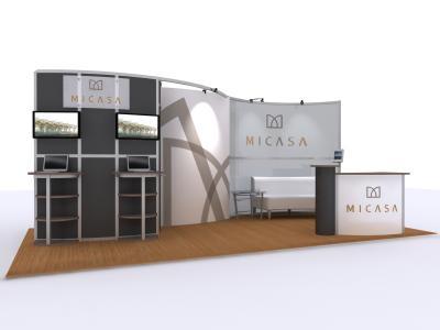 VK-1323 10 Ft Visionary Designs   Trade Show Displays