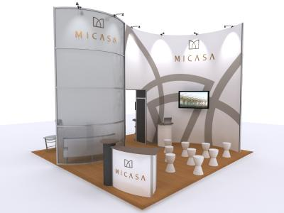 VK-1323 10 Ft Visionary Designs | Trade Show Displays
