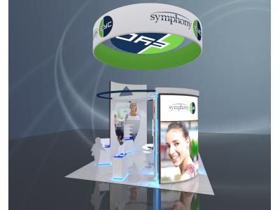 Display Rentals | 20 x 20 Island Custom Symphony Booth