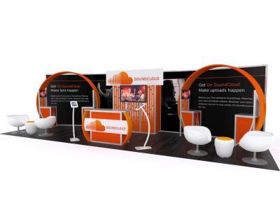Custom Modular Hybrid Displays | VK-3006 30 Ft Visionary Inline