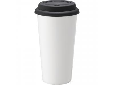 Promotional Giveaway Drinkware   Mega Double-Wall Ceramic Tumbler 15oz Black