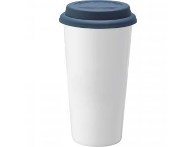 Promotional Giveaway Drinkware | Mega Double-Wall Ceramic Tumbler 15oz Blue