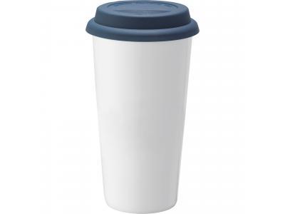 Promotional Giveaway Drinkware   Mega Double-Wall Ceramic Tumbler 15oz Blue