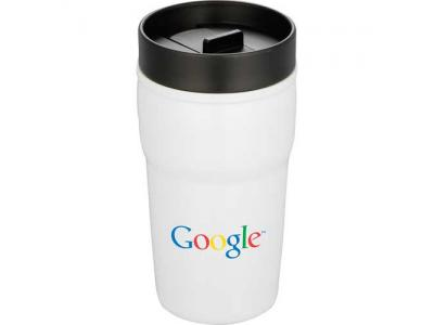 Promotional Giveaway Drinkware | Double-Wall Ceramic Tumbler With Hard Lid 10oz
