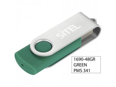Promotional Giveaway Technology | Rotate Flash Drive 2GB Green