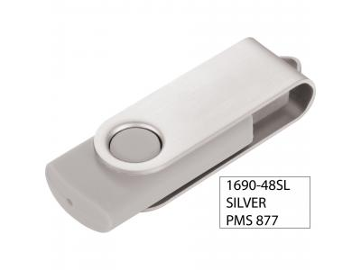 Promotional Giveaway Technology | Rotate Flash Drive 2GB Silver