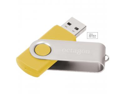 Promotional Giveaway Technology | Rotate Flash Drive 2GB Yellow