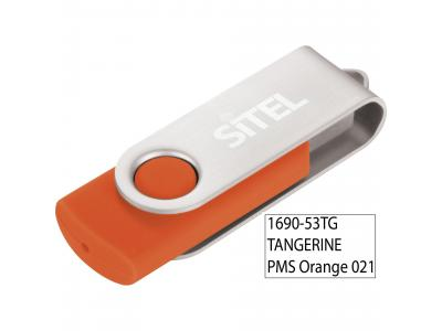 Promotional Giveaway Technology | Rotate Flashdrive 8GB Tangerine