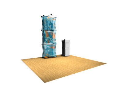 Xpressions Sheer 1x3 Pop Up Displays Kit B | Trade Show Displays