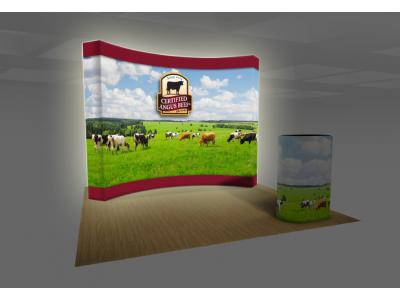 Pop up Displays | 401 VBurst BACKLIT 4x3 Curved Angus