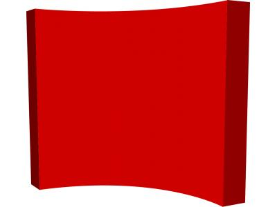 Pop Up Trade Show Display   VBurst Replacement Graphic 4x3 Curved