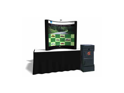 6 Ft Table Top w/2 Photo Murals  | Trade Show Displays by ShopForExhibits