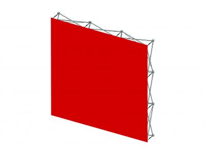 Pop Up Trade Show Display   VBurst Replacement Graphic 3x3 Flat