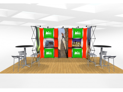 Xpressions Connex 10x20 Pop Up Displays Kit B | Trade Show Displays