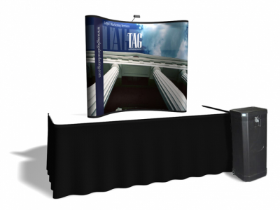 6 Ft Table Top w/All Photo Murals | Trade Show Displays by ShopForExhibits