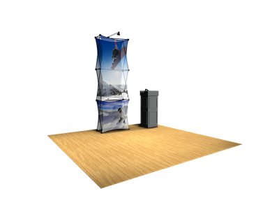 Xpressions Sheer 1x3 Pop Up Displays Kit A | Trade Show Displays