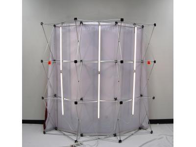 Pop up Displays | VBurst 8' Kit Curved BACKLIT Light and Frame