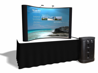 8 Ft Table Top w/3 Photo Murals | Trade Show Displays by ShopForExhibits