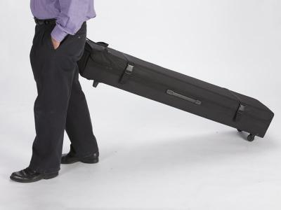 TF-701 Portable Fabric Case With Wheels   Trade Show Displays