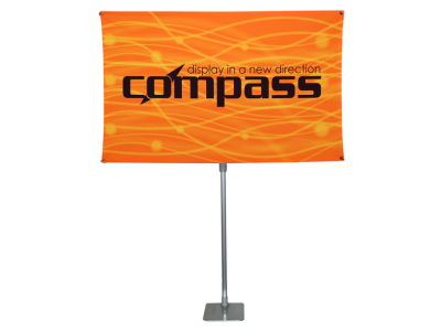 Table Top Displays | Compass 4 Lightweight Banner Stand Horizontal