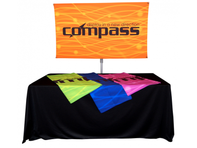 Table Top Displays | Compass 3 Lightweight Banner Stand