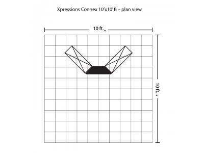 Xpressions Connex 10x10 Pop Up Displays Kit B | Trade Show Displays