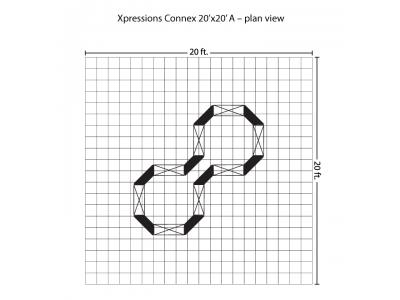 Xpressions Connex 20x20 Pop Up Displays Kit A | Trade Show Displays