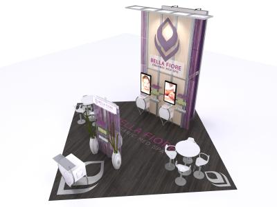 VK-5102 Visions Custom Modular Island Display | Trade Show Displays