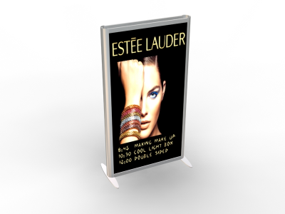 Banner Stands | MOD-1250  Backlit 3-D Banner Stands
