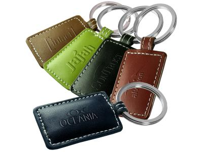 Promotional Giveaway Gifts & Kits | Limelight Rectangular Leather Key Fob