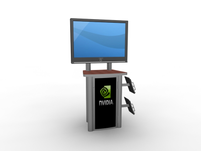 MOD - 1245  Monitor Stand | Counters Pedestals Kiosks & Workstations