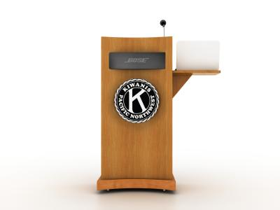 MOD-1547 Trade Show Podium | Counters Pedestals Kiosks & Workstations