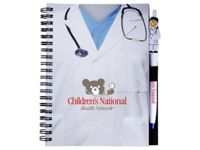 Promotional Giveaway Gifts & Kits | Doctor Notebook with Doctor Pen Combo