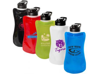 Promotional Giveaway Drinkware | Wide-Mouth Flip-Top Flexi Bottle