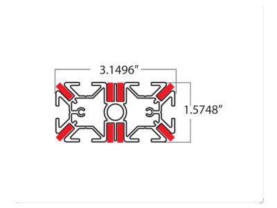 I Profile Dimensions | Tension Fabric Displays