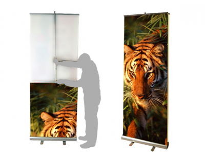 "47.5"" Double Sided Banner Stand 