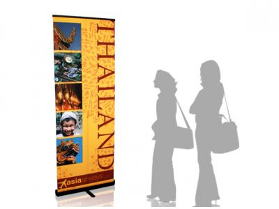 Quickscreen 33.5 in Retractable Banner Stands | Banner Stands