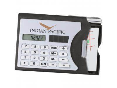 Promotional Giveaway Technology   Calculator & Business Card Holder
