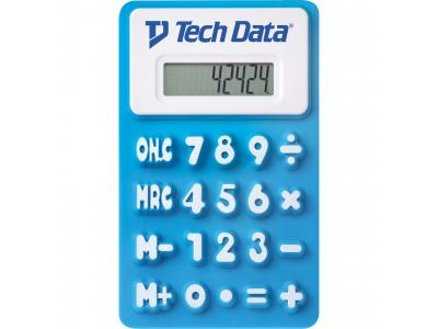 Promotional Giveaway Technology | The Flex Calculator Blue